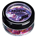 Iridescent Chunky Glitter by Moon Glitter – 100% Cosmetic Glitter for Face, Body, Nails, Hair and Lips - 0.10oz - Purple