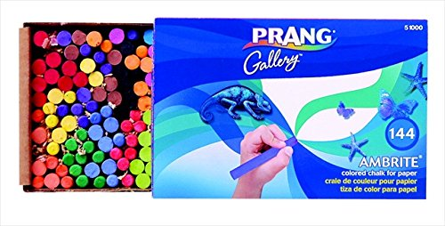 Prang 001314 Ambrite Non-Toxic Colored Drawing Chalk44; Set of 144 by PRANG