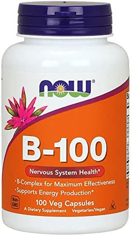NOW Supplements, Vitamin B-100, 100 Veg Capsules