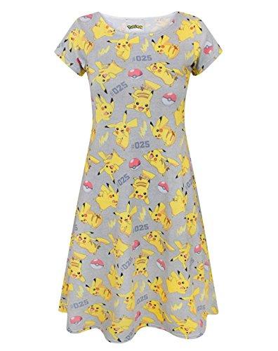 Pokemon Womens/Ladies Pikachu Short Sleeved Dress (Medium) (Multicoloured)]()