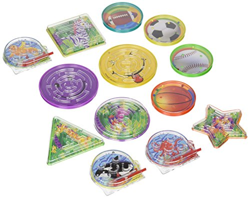 Amscan Fun-Filled Mini Maze Puzzles with Assorted Backgrounds Party Mega Value Pack Favors (40 Piece), Multicolor, 2 1/2