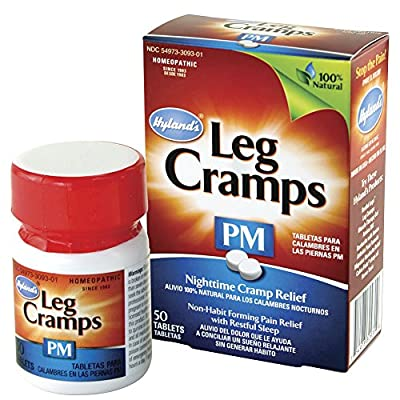 Hyland's Night Time Leg Cramps PM Tablets, Natural Cramp Pain Relief with Restful Sleep, 50 Count