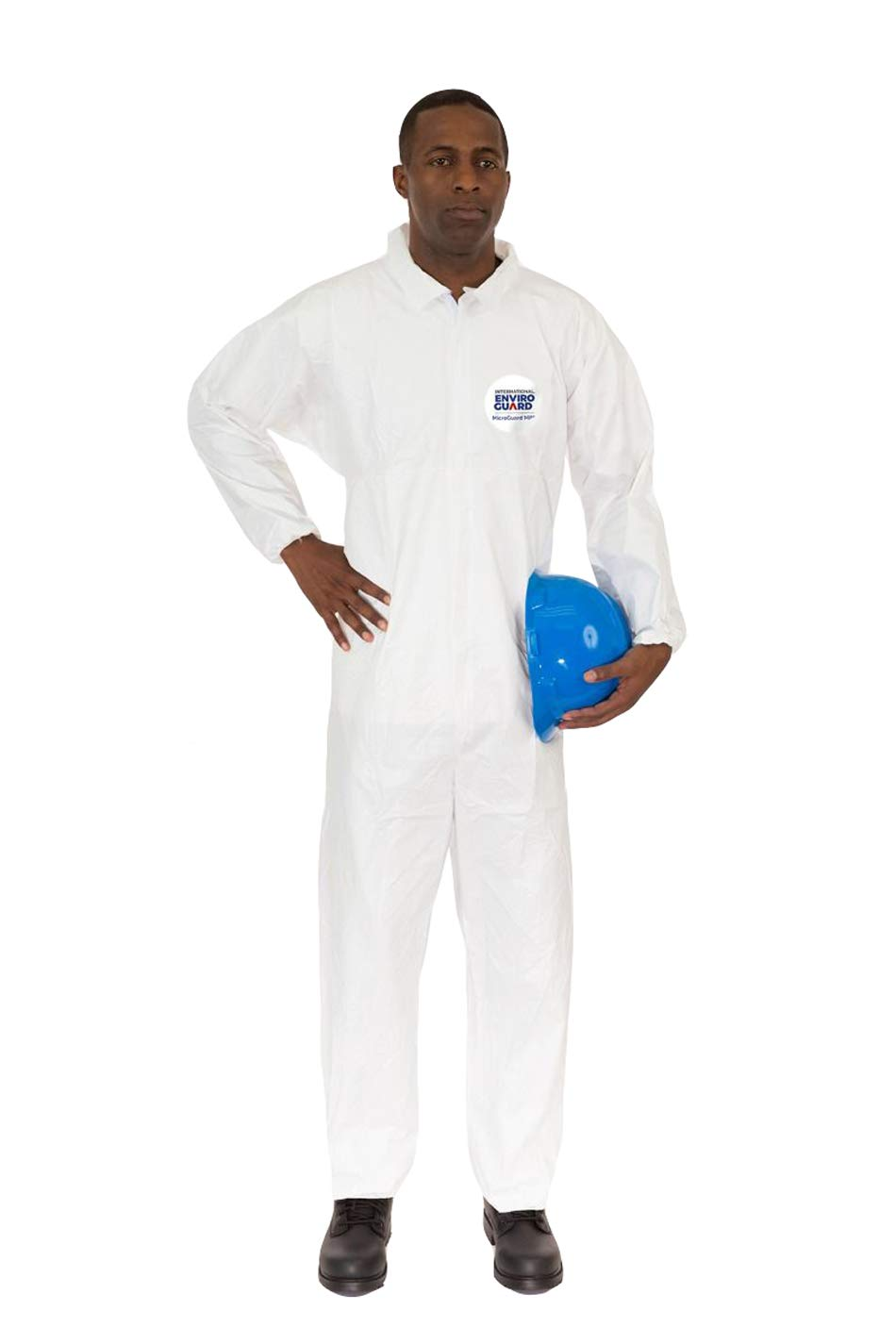 Microguard MP Microporous (White) | Particulate & Splash Protection/Disposable Hazmat Coverall with Elastic Wrist & Ankle for Paint and Particulates (XL, Case of 25) by Microguard MP (Image #1)