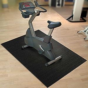 etm® Bodenschutzmatte Fit Pro | Unterlegmatte für Fitnessgeräte | 91 x 198 cm