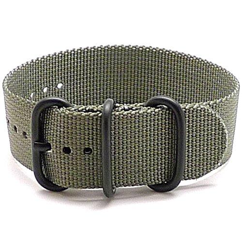 DaLuca Ballistic Nylon NATO 1 Piece Watch Strap - Grey (PVD Buckle) : 26mm