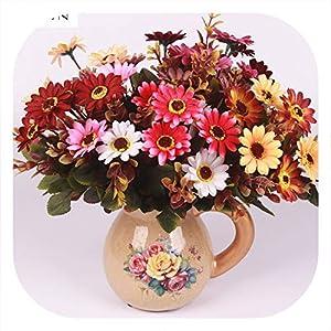 Memoirs- Artificial Silk Daisy Bouquet Fake Flower Arrangement Table Wedding Home Decor Party Accessory Fleur Artificielle Flores 74