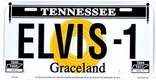 Cruising International Elvis Presley #3 Metal License Plate ()