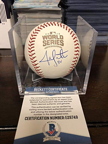 Jon Lester Autographed Signed Cubs 2016 World Series Baseball with Cube Beckett Authentic COA