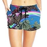 PPANFKEI Hippie Hip Hop Drawstring Womens Boardshorts Swim Trunks Tropical Beach Board Shorts Jersey