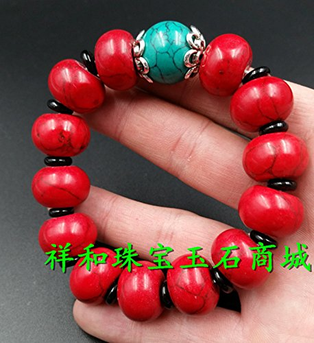 Beautiful red turquoise bracelet wholesale abacus beads bracelet bracelets men and women the same paragraph Accessories