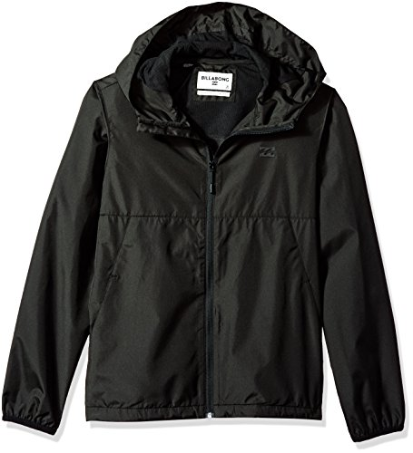 Billabong Boys' Transport Windbreaker Black Large ()