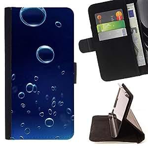 Jordan Colourful Shop - Blue Water Drop 6 For Sony Xperia Z3 D6603 - < Leather Case Absorci????n cubierta de la caja de alto impacto > -
