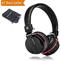 Active Noise Cancelling Wired/Wireless Bluetooth Headphones with Mic,Adjustable Foldable Lightweight on the Ear,Soft Memory-Protein Earmuff,Hi-Fi Stereo Headset for PC/Phones/ TV【Fathers Day Gift】