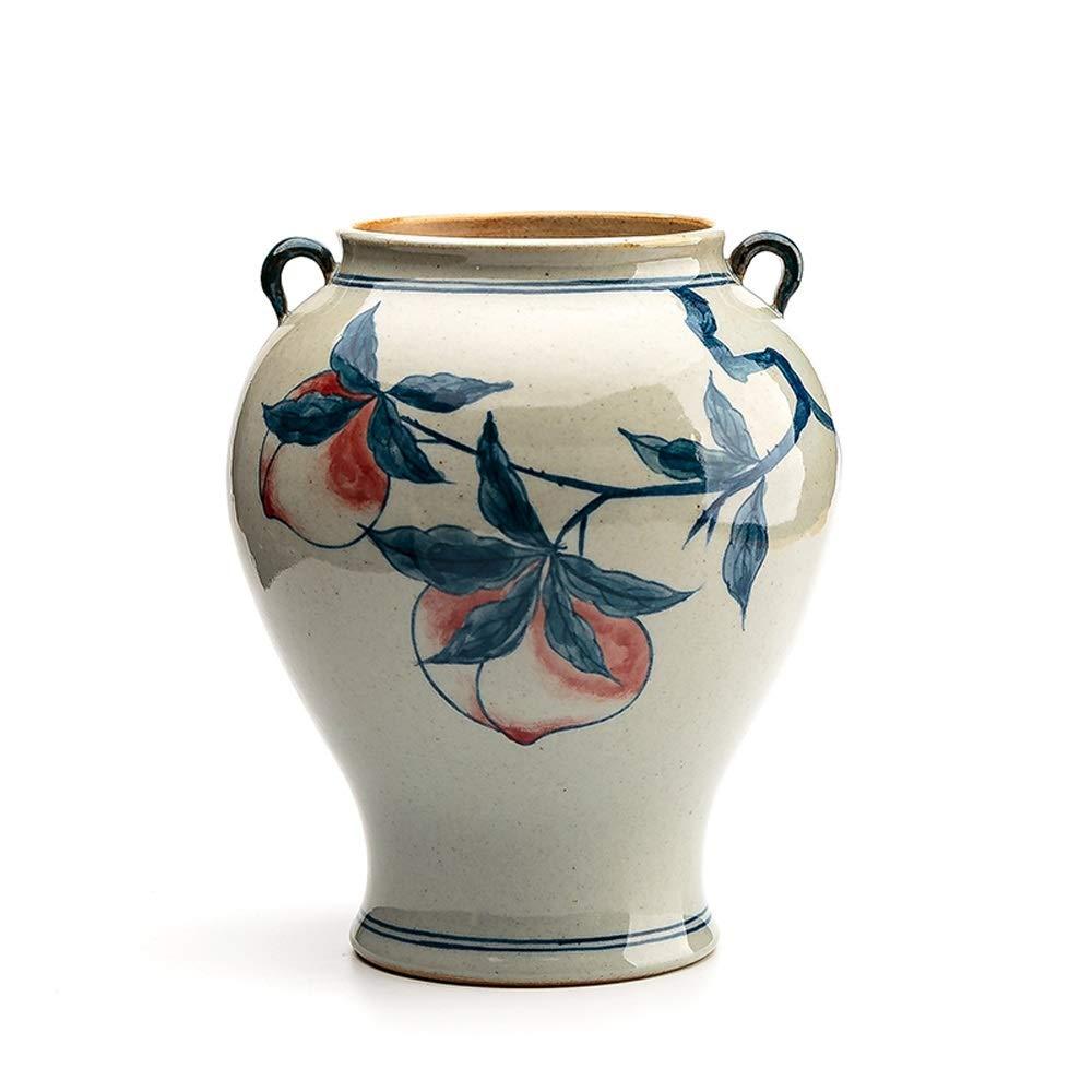 セラミック花瓶用花緑植物結婚式の植木鉢装飾ホームオフィスデスク花瓶花バスケットフロア花瓶 (三 : C) B07RM36NZR  C