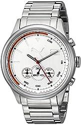PUMA Men's PU102741004 Wheel Chrono Analog Display Quartz Silver Watch