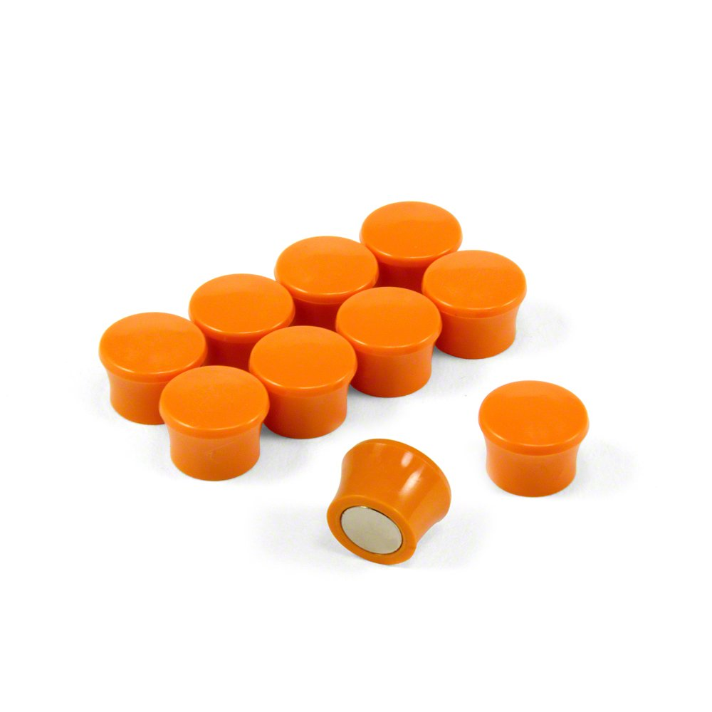 Magnet Expert® Small High Power 'Memo' Board Magnets - Orange (1 Pack of 10) Magnet Expert® F4M18O-1