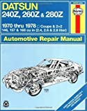 Datsun 240Z/260Z Owner's Workshop Manual (USA service & repair manuals) by Haynes, J. H., Strasman, Peter G. published by J H Haynes & Co Ltd (1988)
