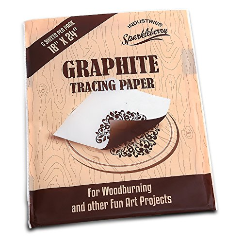 Graphite Transfer Carbon Paper - Transfer Paper for Tracing Designs To Your Wood Projects, (5 EXTRA LARGE Sheets - 18 x 24)
