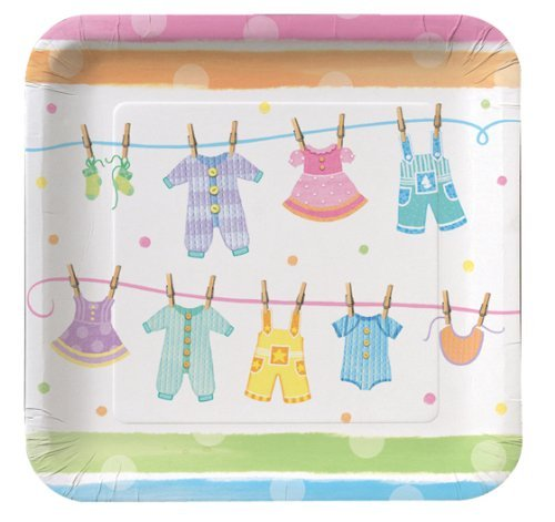 Baby Clothes Baby Shower - Baby Shower Party Plates x -