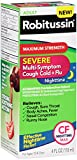 Robitussin Severe CF Maximum Strength Cough, Cold, & Flu Nighttime Medicine (4 fl. oz. Bottle)