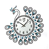 Wall Clock, WensLTD Vintage Style Peacock Antique Wall Clock Home Kitchen Office (Ship from US) (Black)