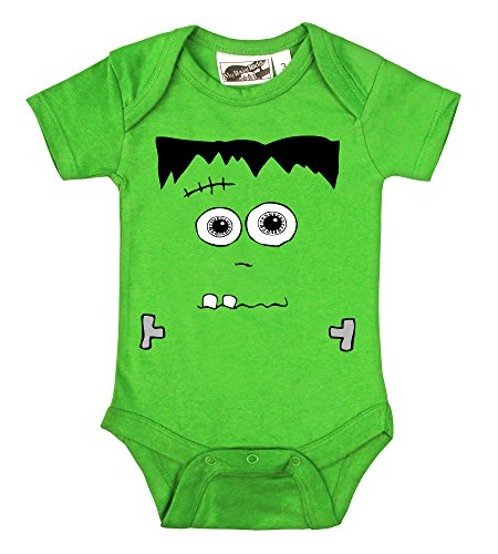 [Frankenstein's Monster Lime Green One Piece (3-6 Months)] (Awesome Toddler Halloween Costumes)