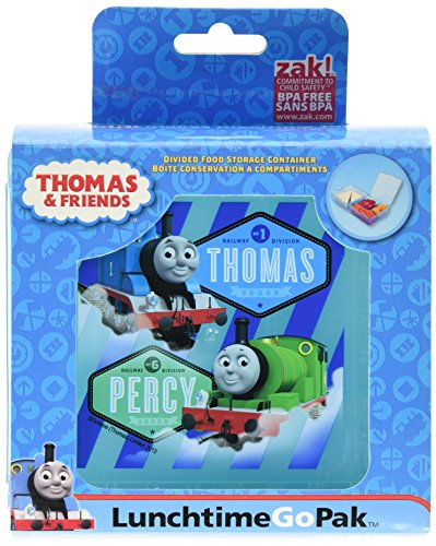 Food Thomas - Zak! Designs GoPak Lunch Box Divided Food Storage Container featuring Thomas & Friends, Break-resistant and BPA-free Plastic