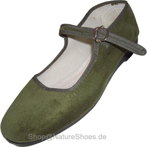 China de terciopelo Guantes, tallas 33–42, muchos colores Verde - verde oliva