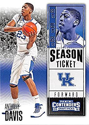 Anthony Davis basketball card (University of Kentucky Wildcats) 2016 Contenders Draft Picks #6