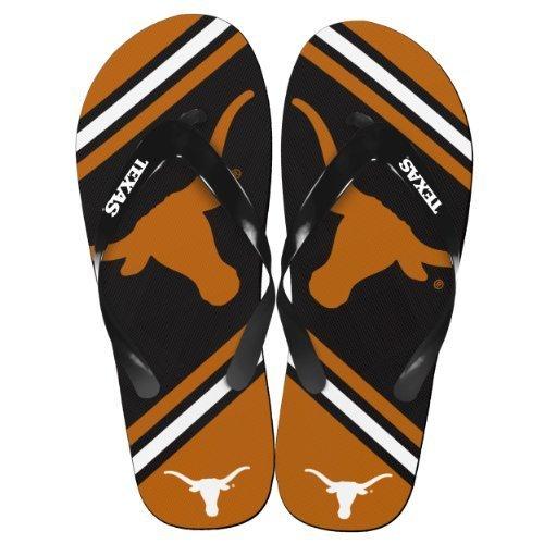 NCAA Collegiate Team Big Logo Unisex Flip Flop Beach Sandals - Choose Team (Texas Longhorns, Medium (9-10)) - Texas Flip Flop