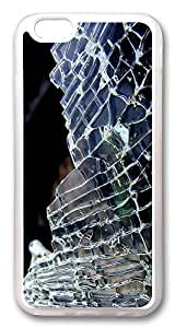 ACESR Broken Glass Custom iPhone 6 Cases, pc hard Case for Apple iPhone 6 (4.7inch) white