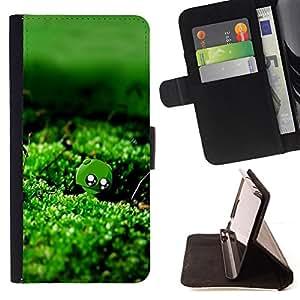 For Apple Apple iPhone 4 / iPhone 4S,S-type Naturaleza verde musgo Agua- Dibujo PU billetera de cuero Funda Case Caso de la piel de la bolsa protectora