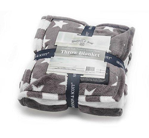 Shannon & Scott All Season Oversized Double Printed Ultra Soft Velvet Micro Plush Luxury Throw Blanket, (Army Throw Blanket)