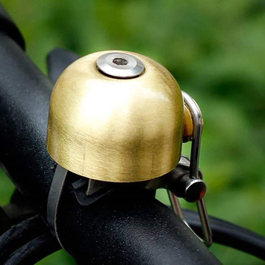 Angzhili Sonnette de v/élo Rock Bros en m/étal pur classique r/étro en laiton Accessoires de cyclisme klaxons ultra puissants pour VTT et v/élo de route