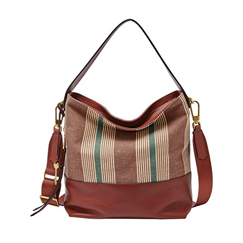 Small Fossil Brown Handbag Hobo Stripe Maya Bqw5xv6qS