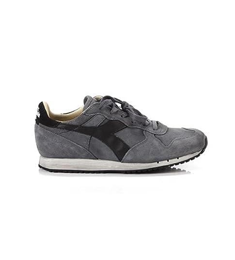 Diadora Heritage, Uomo, Trident S SW Gray, Suede Pelle, Sneakers, Grigio, 40.5 EU