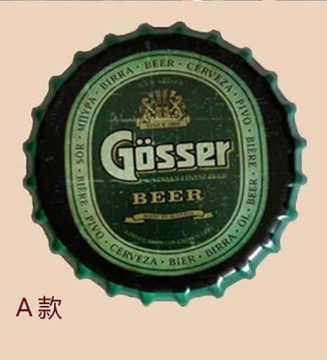 Cartel de Chapa GOSSER Vintage Metal Pintura Cerveza Tapa ...