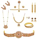 COMBO OFFER Full for Bharatanatyam and Kuchipudi Dance Set +Ready jada +Flower's +Hair Ring and Payal