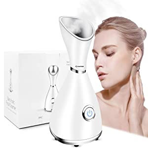 DINKY Facial Steamer, Face Steamer, Portable Nano Ionic Warm Mist Personal Sauna Spa Face Humidifier for Moisturizing Cleansing Pores, Blackheads Acne Skin Care