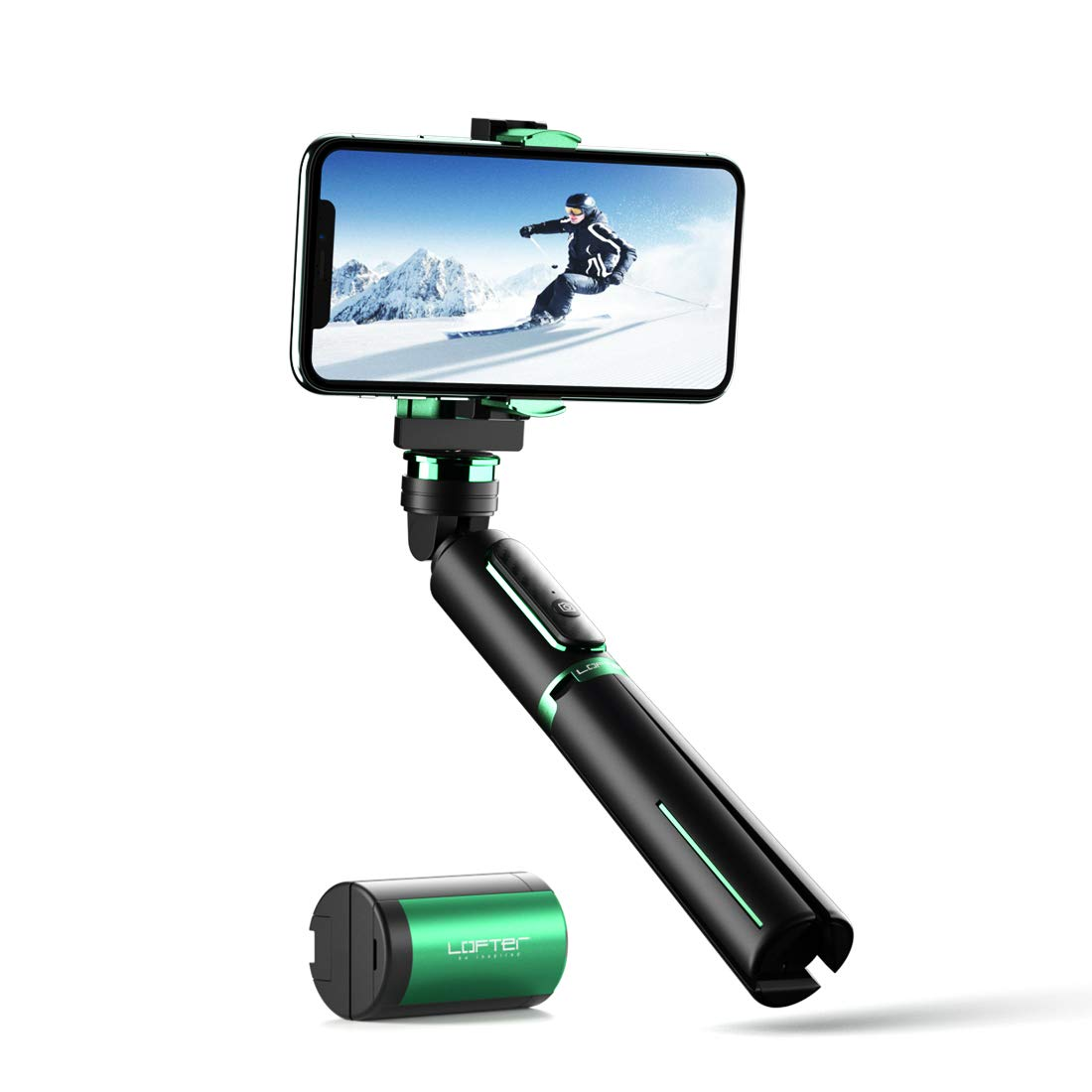 Gimbal Stabilizer, Lofter Selfie Stick Tripod 3 in 1 Handheld Phone Gimbal Extendable with Wireless Remote, Auto Balance Stabilizer for Smartphone and GoPro, TikTok Vlogging Live Stream Accessories