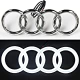 JetStyle LED Emblem for Audi , Front Car Grill Badge, Auto Illuminated Logo, Glowing Rings, DRL Daytime Running Lights White - Drive Brighter
