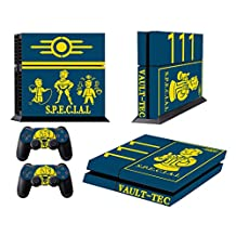 CloudSmart Fallout 4 For Sony Playstation 4 Skin Sticker Vinyl Stickers for PS4 Console x1 Controller Skins x2 - S.P.E.C.I.A.L. VAULT-TEC