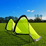 FORZA Flash Pop-Up Soccer Goals [Pair] – Portable Pro Soccer Nets [2.5ft, 4ft & 6ft]