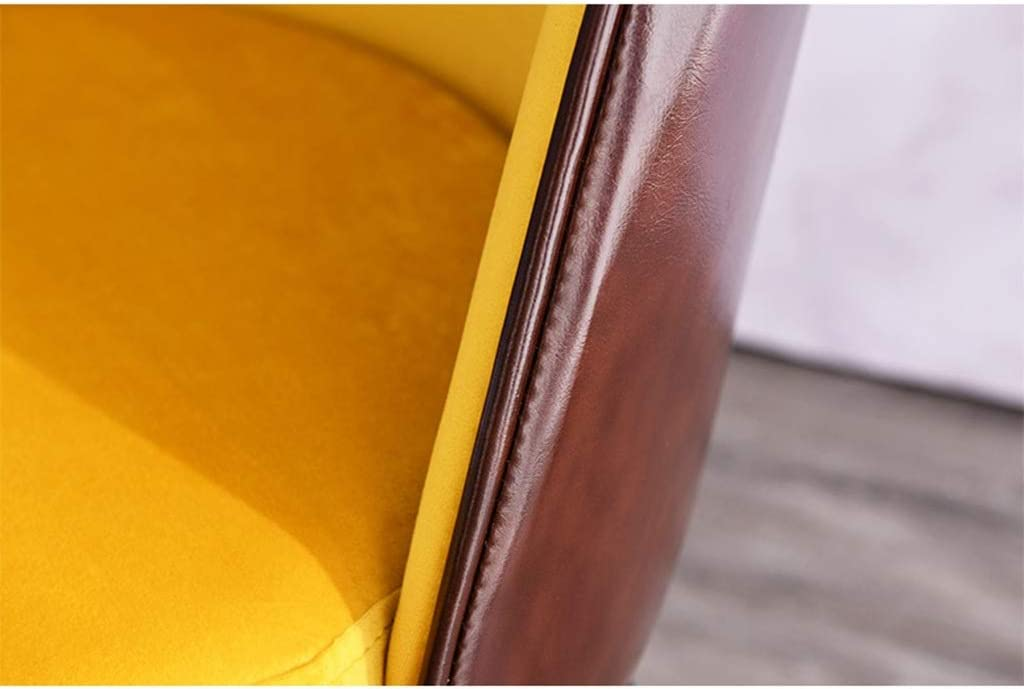 AODISHA Receptie Stoel, Slaapkamer Woonkamer Chair Fauteuil Meeting Room Chair Lounge Chair Metal Doek Comfortabele Lounge Chair Make-up Chair meer comfort (Color : Pink) Blue