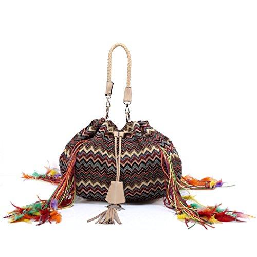 Crochet Drawstring Bag - 6