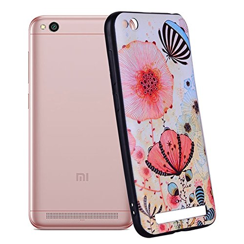 promo code e959c cc0b3 Amazon.com: Xiaomi Redmi 5A Case, Ngift [Pink flower] Ultra [Slim ...