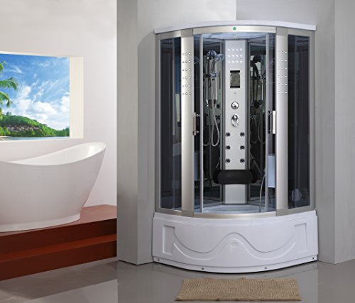 1001Now Corner Steam Shower Enclosure with Hydro Massage Jets & Foot Massage OB shower 82-A