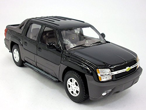 Chevy Avalanche 2002 1/24 Scale Diecast Metal Model - BLACK