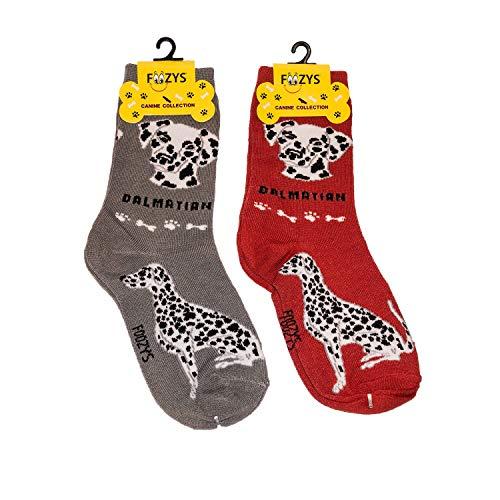 Foozys Unisex Crew Socks | Canine/Dog Collection | Dalmation
