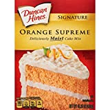 Duncan Hines Signature Cake Mix, Orange Supreme, 15.25 Ounce (Pack of 12)